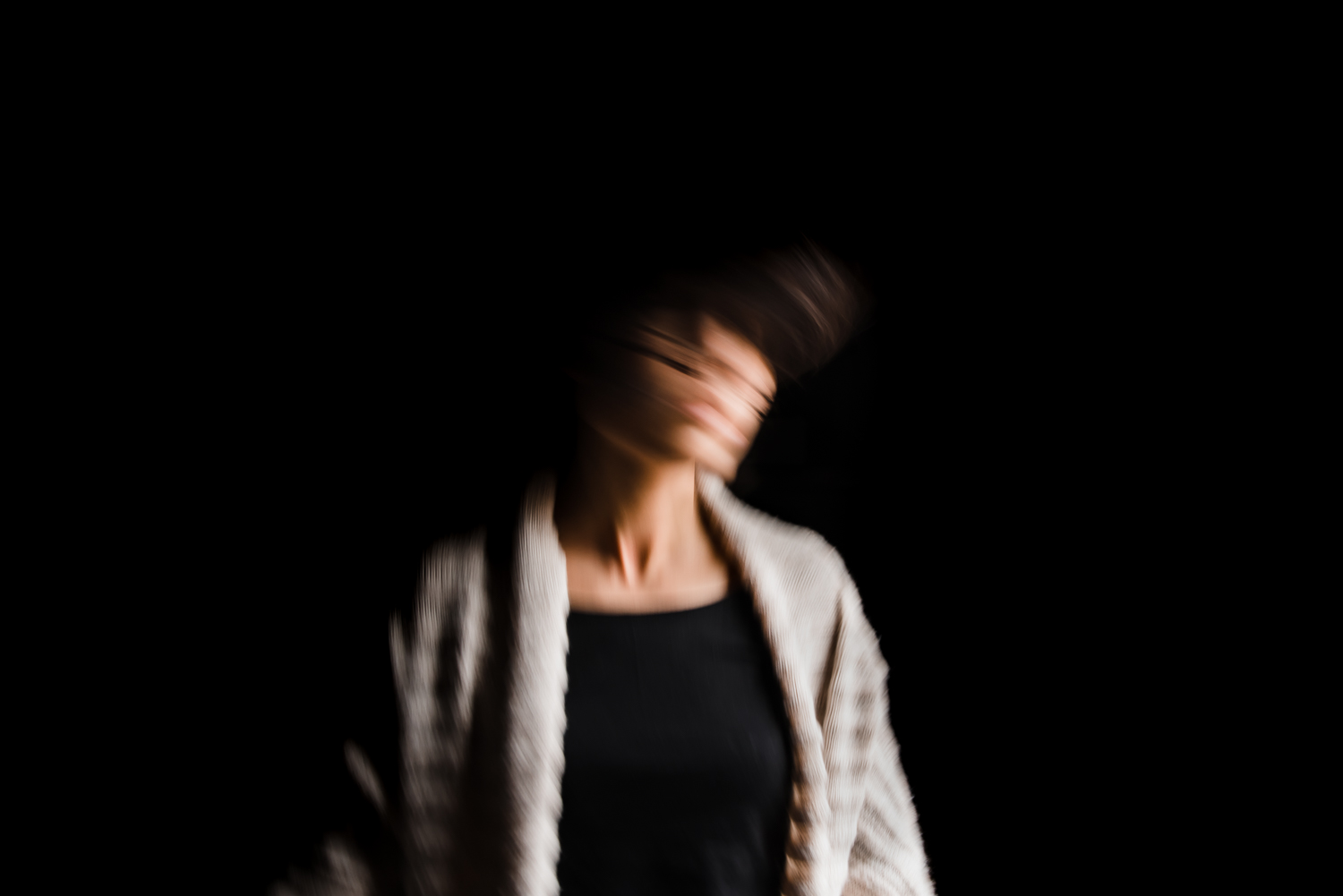 Self portrait in motion by Diana Hagues