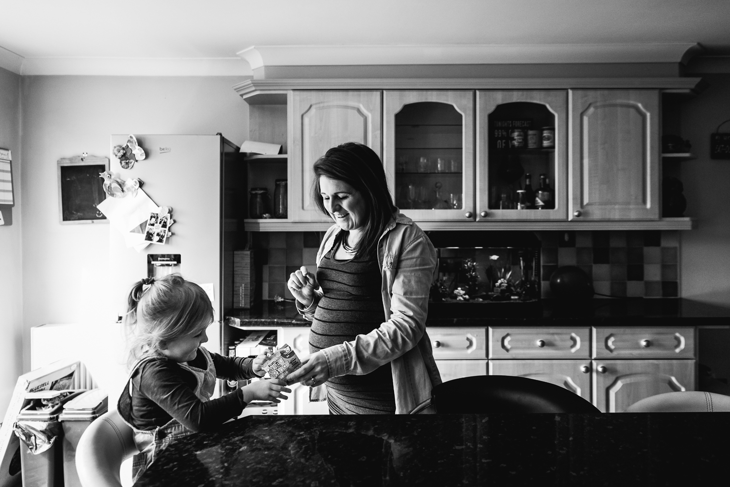 Mum and daughter in the kitchen
