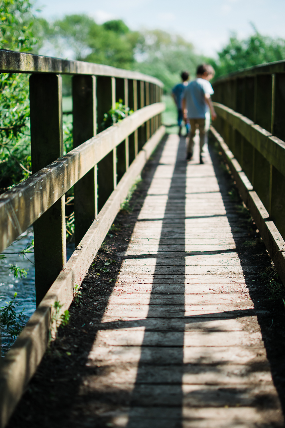 Lines and shadows on a bridge at Houghton Meadows, Huntingdon
