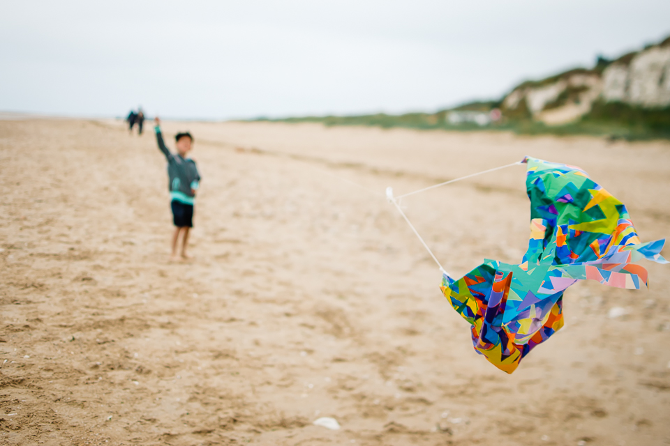 Kite flying on the Norfolk beach