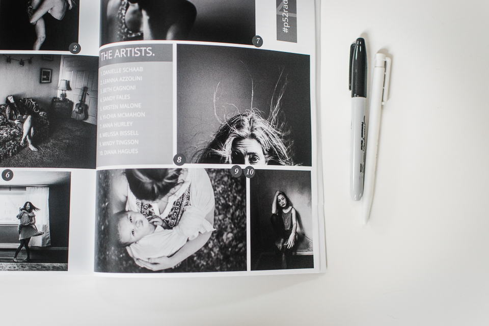 Artist Diana Hagues self-portrait in black + white