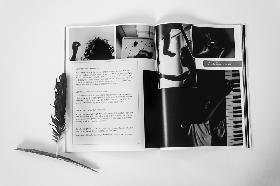 An article inside the Black and White Edition of Dear Photograph