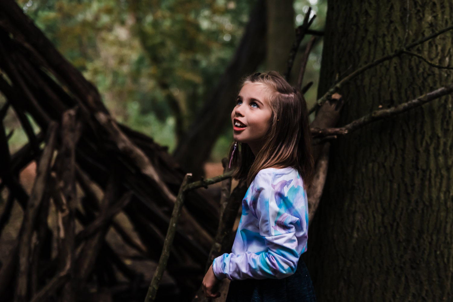 Portrait of a girl in the wood