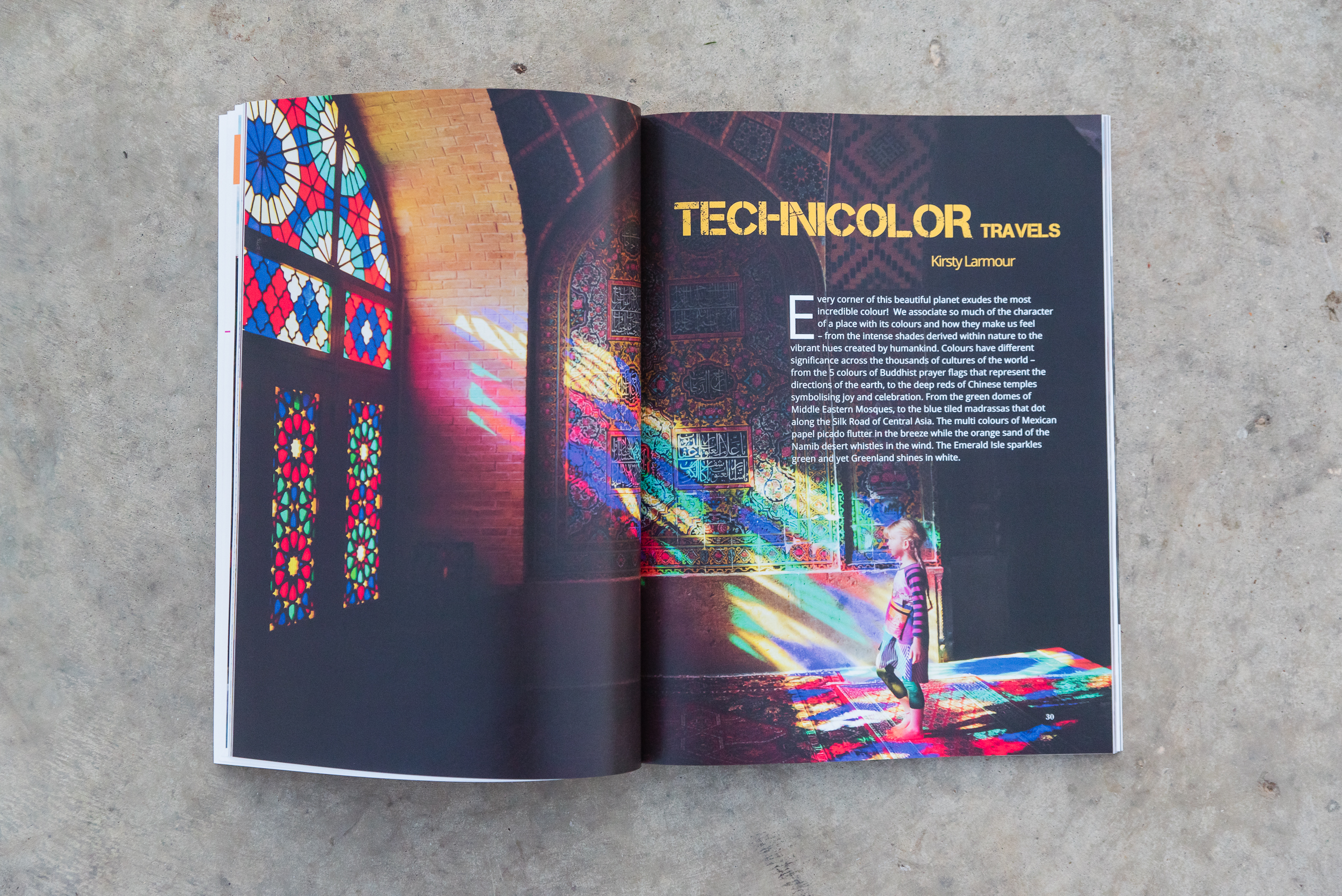 Kirsty Larmour's Technicolor Travels article in the Dear Photogr
