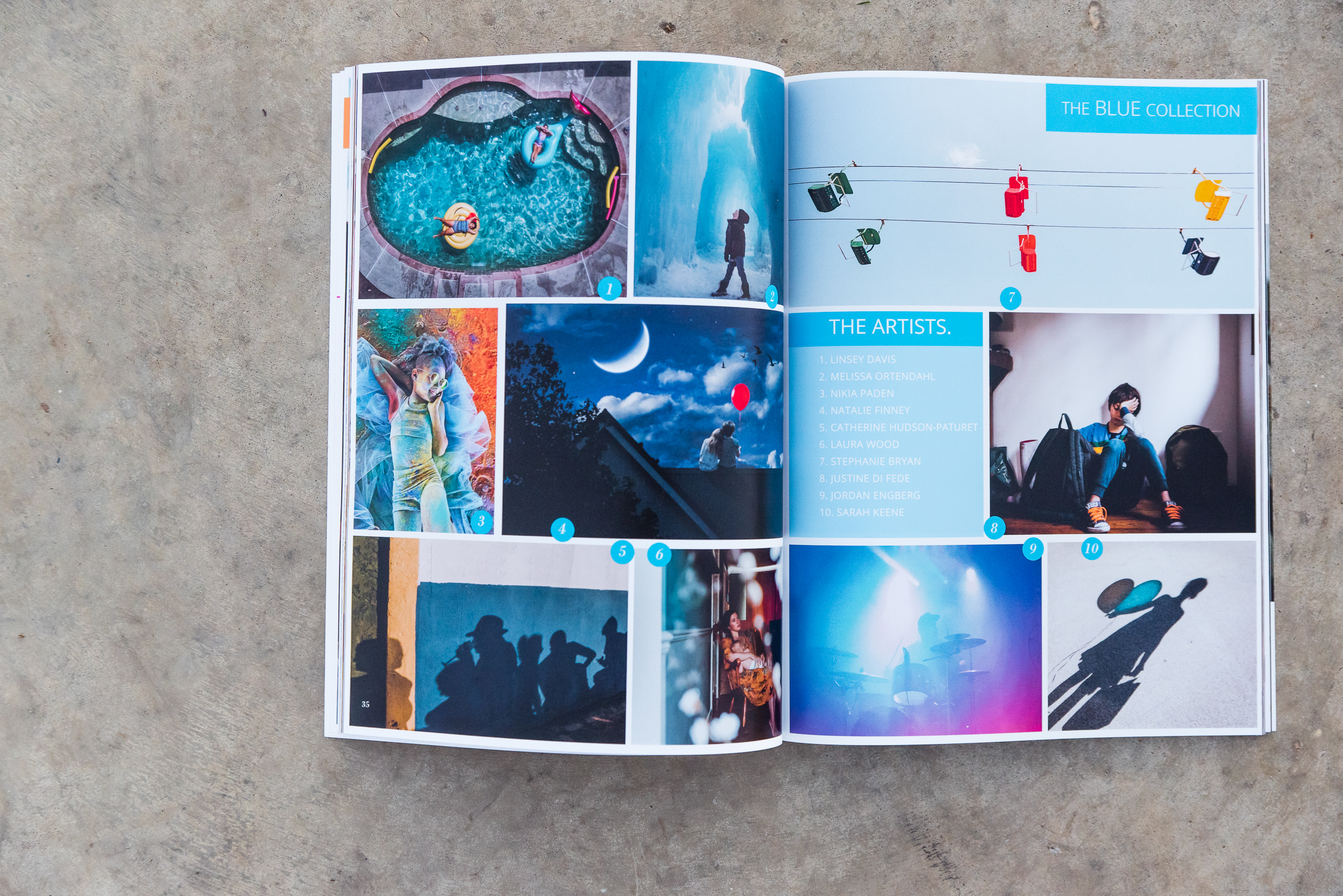 Blue collection in the Color issue of the Dear Photographer maga