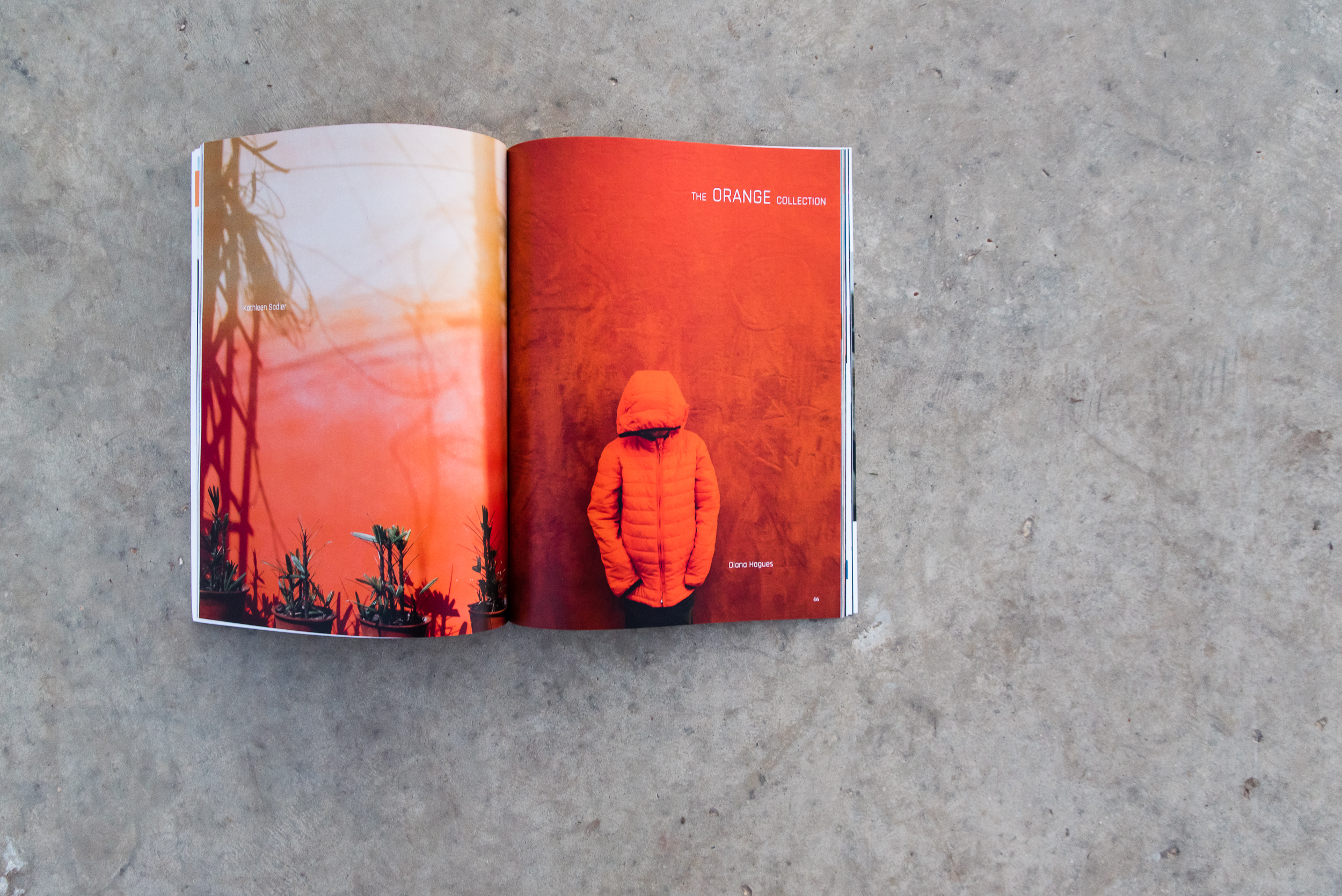 Full page spread of Diana Hagues's Boy in the Orange jacket phot