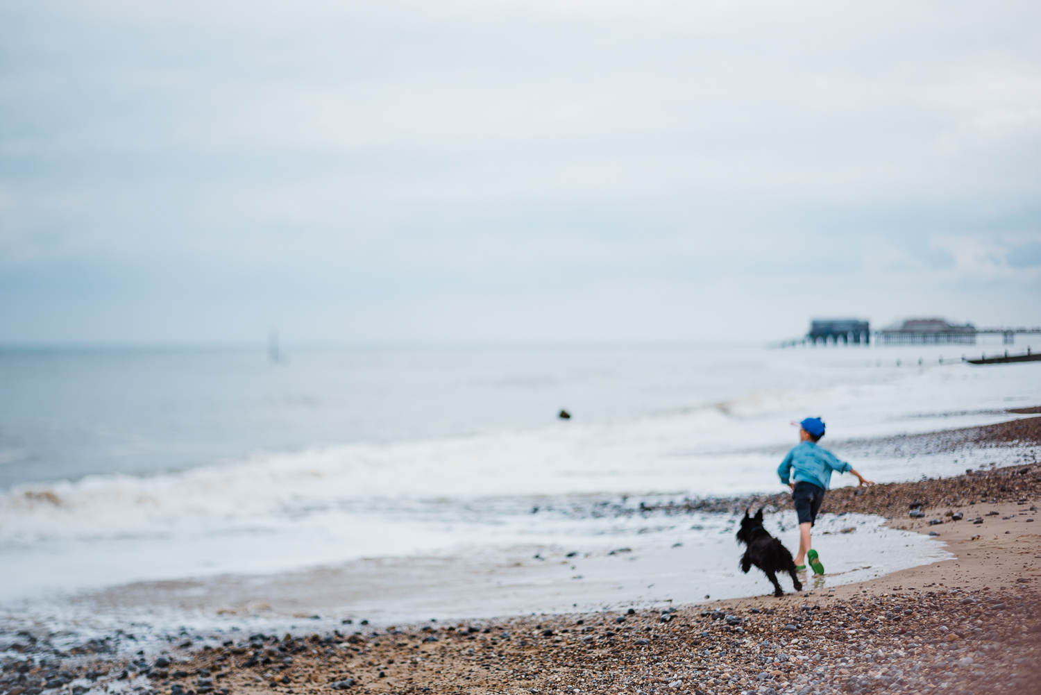 'Something Blue' Seascape scenes from Cromer, Norfolk, by Diana