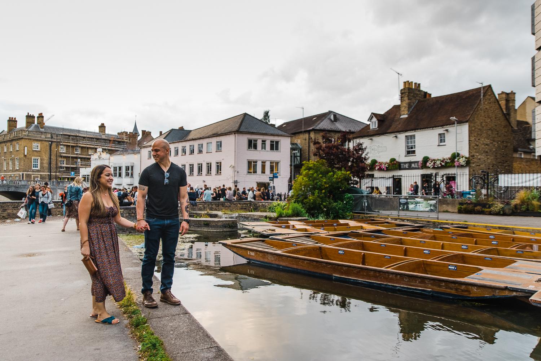 Cambridge punting and couple photoshoot