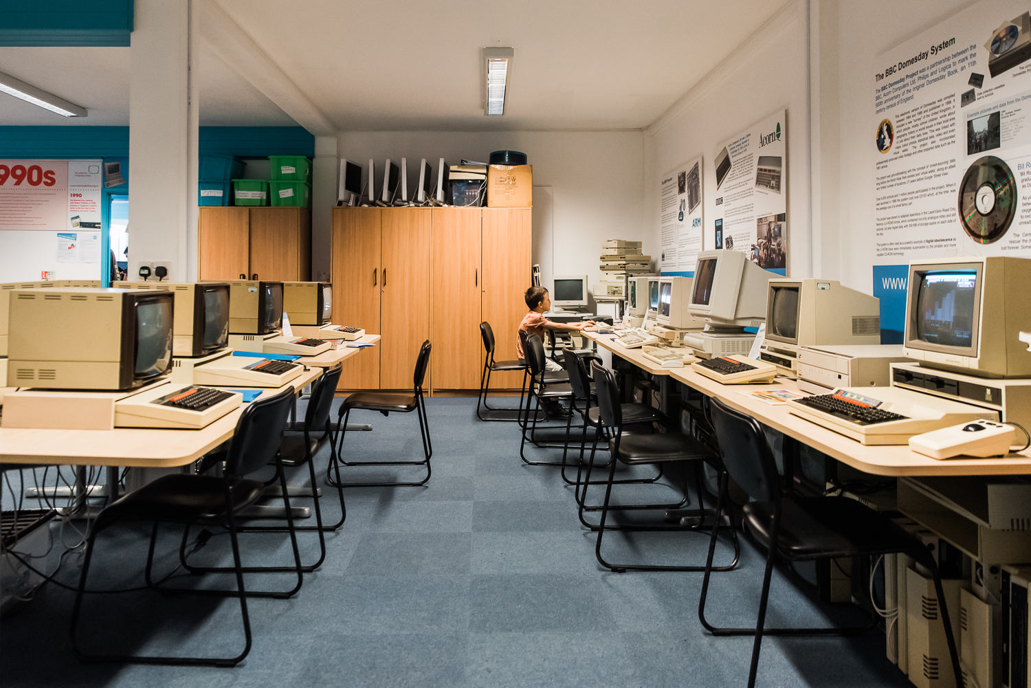 1980s computers classroom at the Museum of computing history, Cambridge