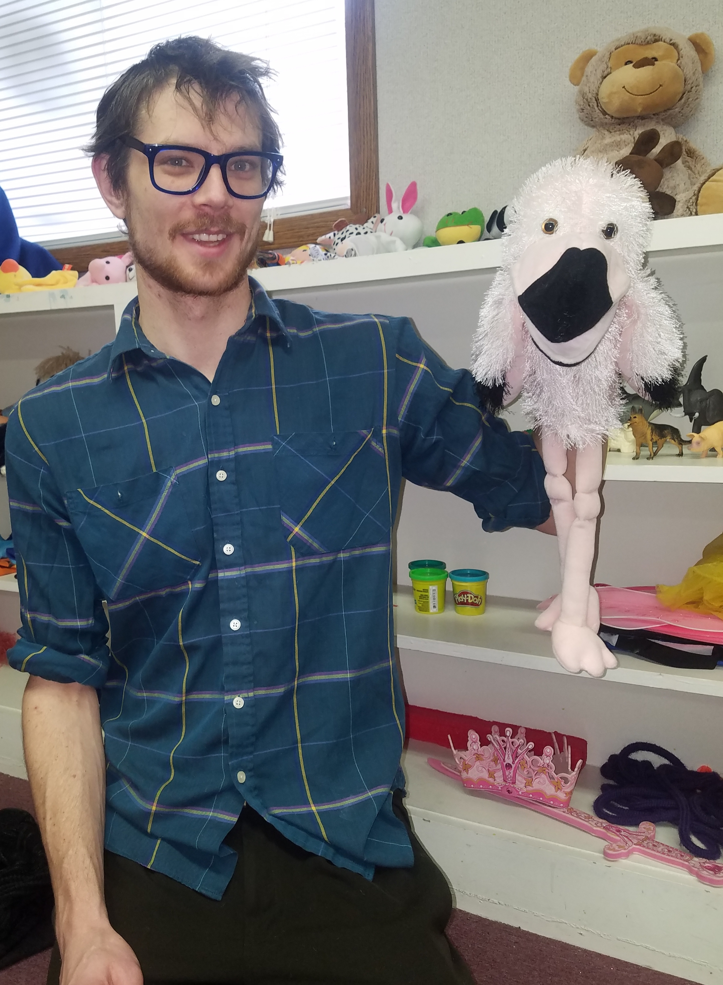 """Andrew with some of his puppet teammates!  Also, make sure to check out Andrew's Play Therapy Podcast """"Play Time"""" by clicking     here     !"""