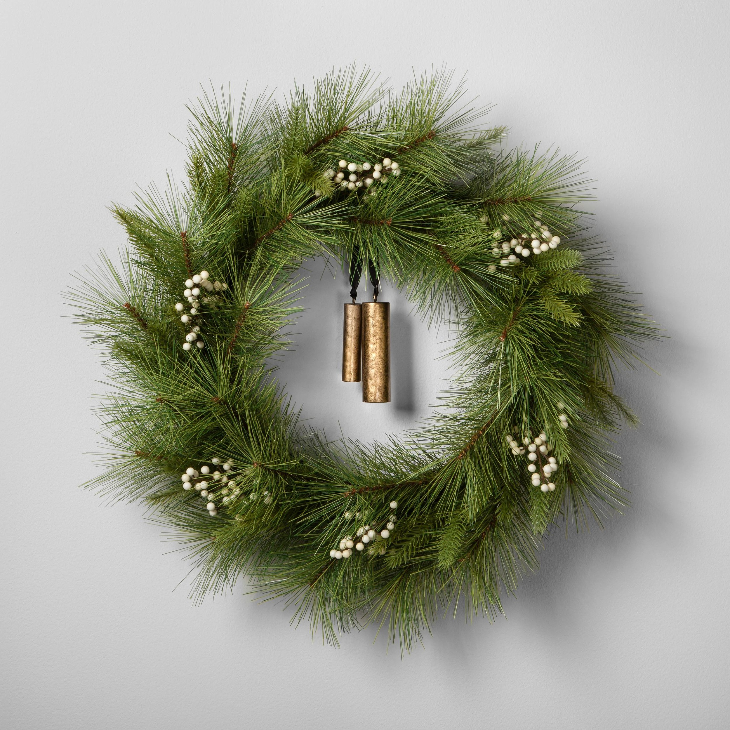 Artificial Pine Wreath with Bells