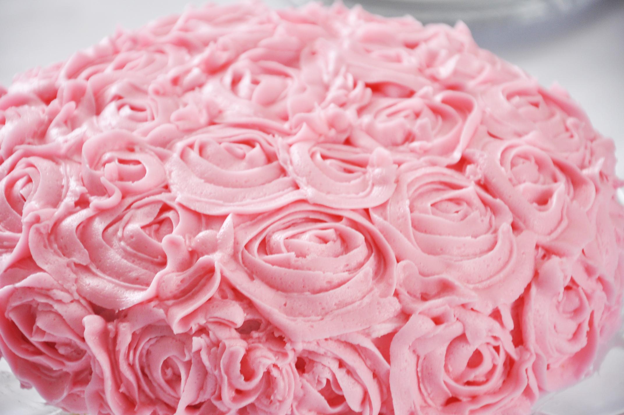 Haymount Homes Rose Flower Buttercream Cake Pink 5.JPG