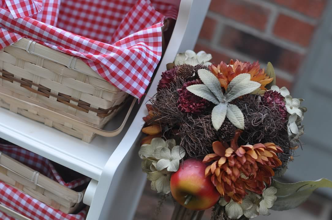 Haymount Homes Little Red Riding Hood Party Red picnic basket decor.jpg