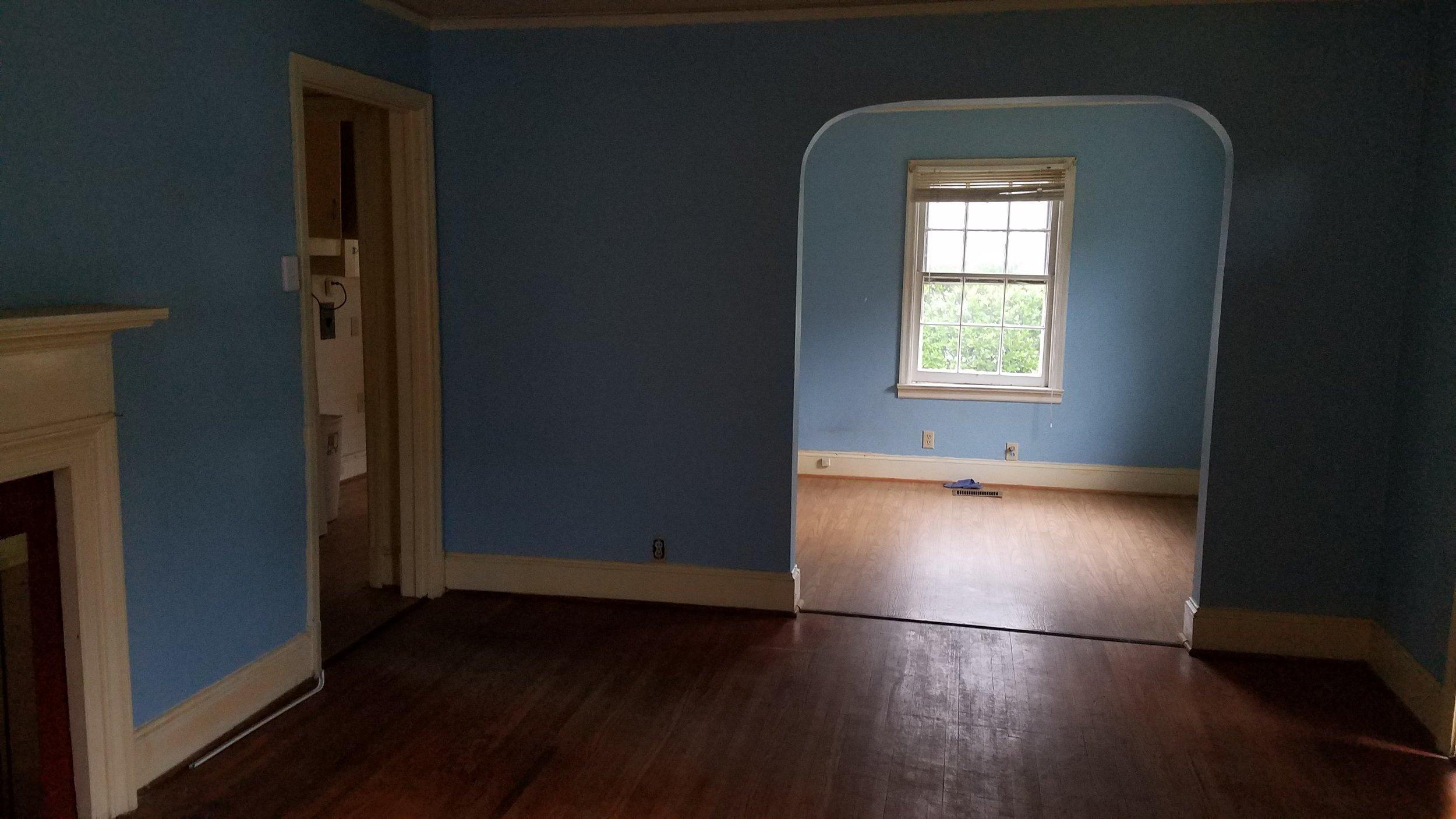 Haymount Homes Glenville Ave Living Room Before 2