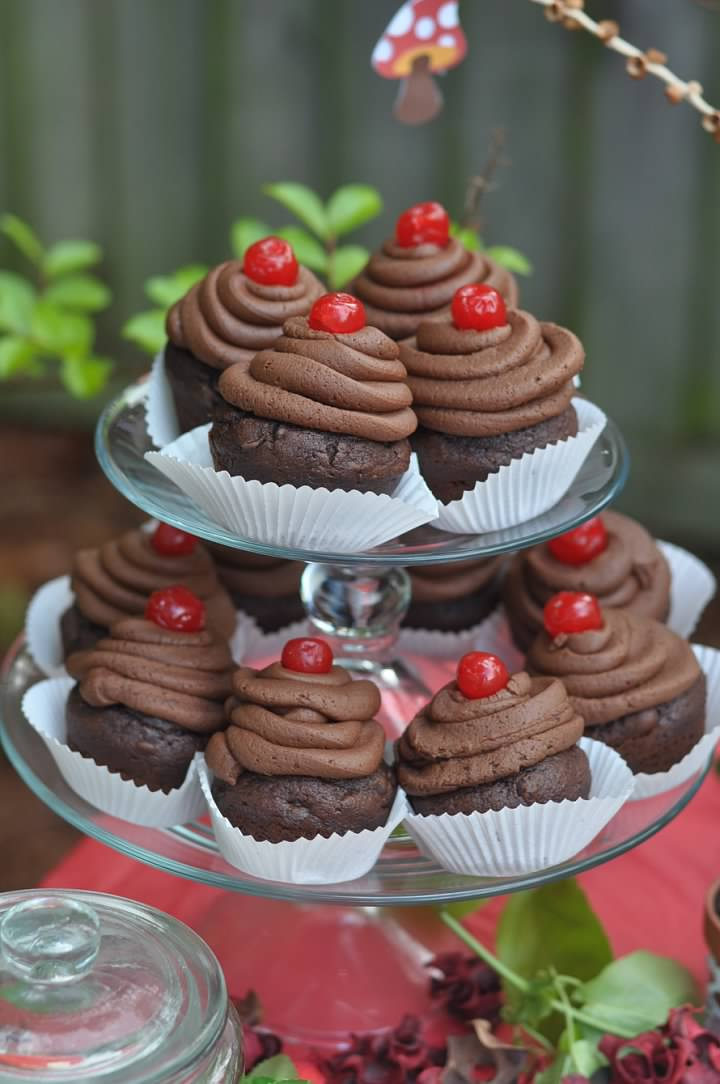 Haymount Homes Little Red Riding Hood Party Black Forest Cupcake with Cherry 4.jpg
