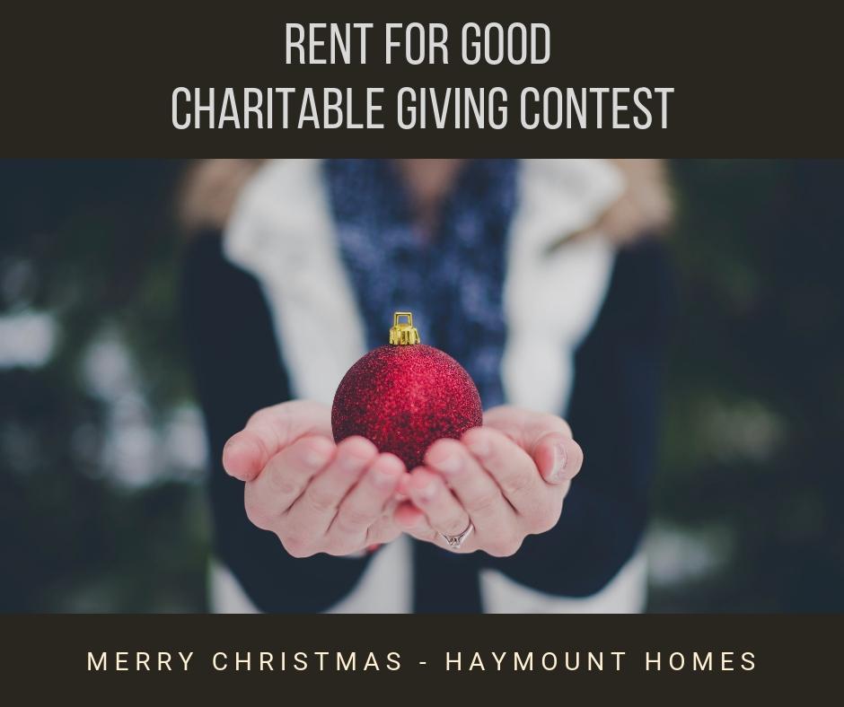 Haymount Homes Charitable Giving Contest