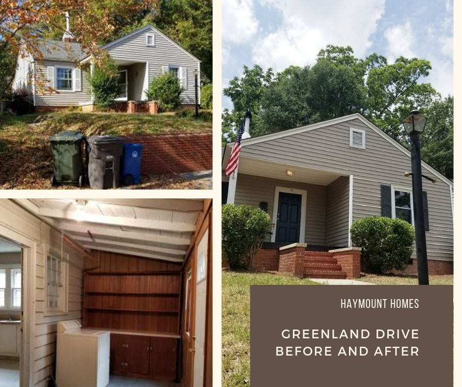 Haymount homes llc Greenland Drive Before and after