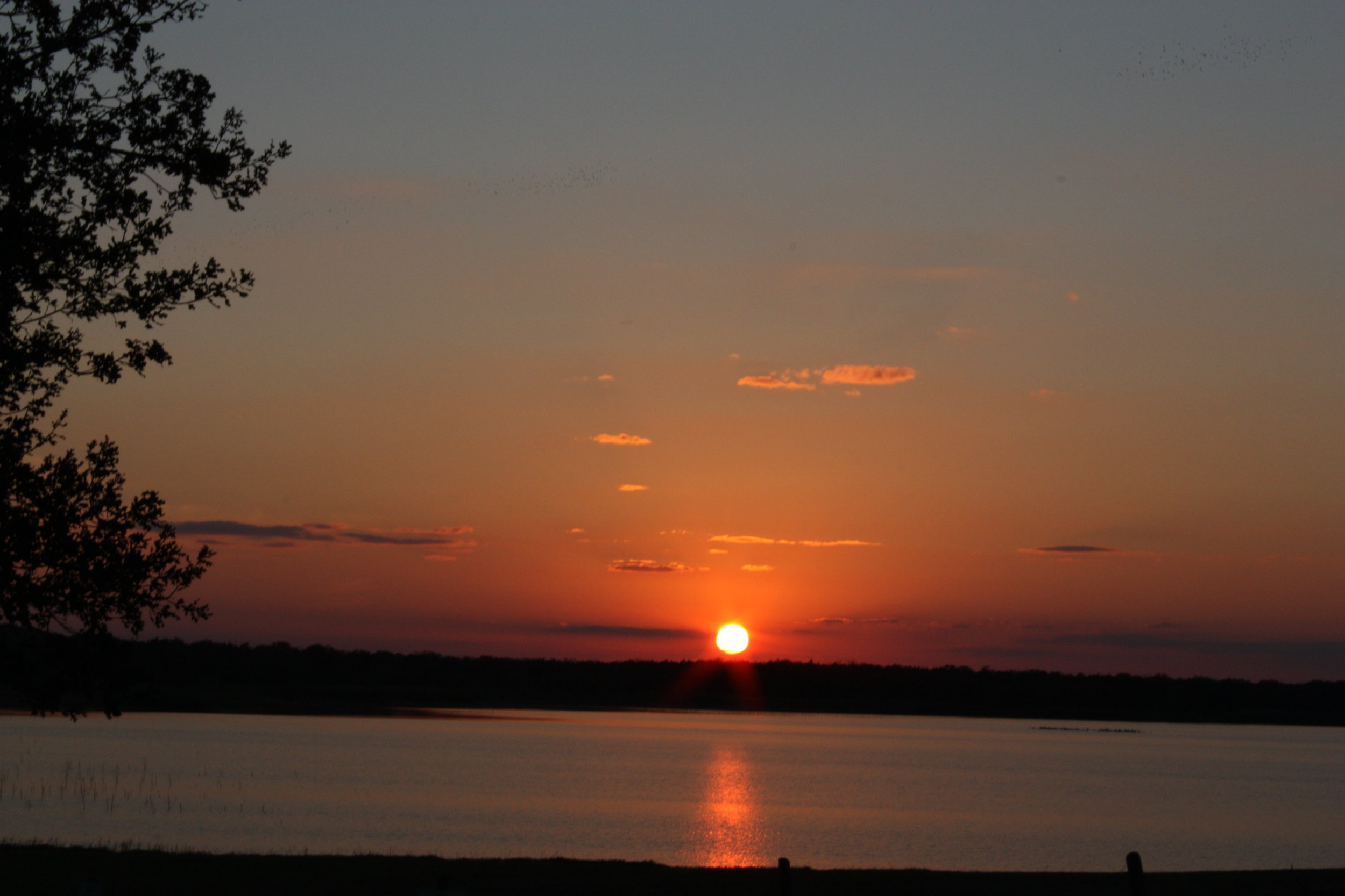 Sunset on Lake Somerville