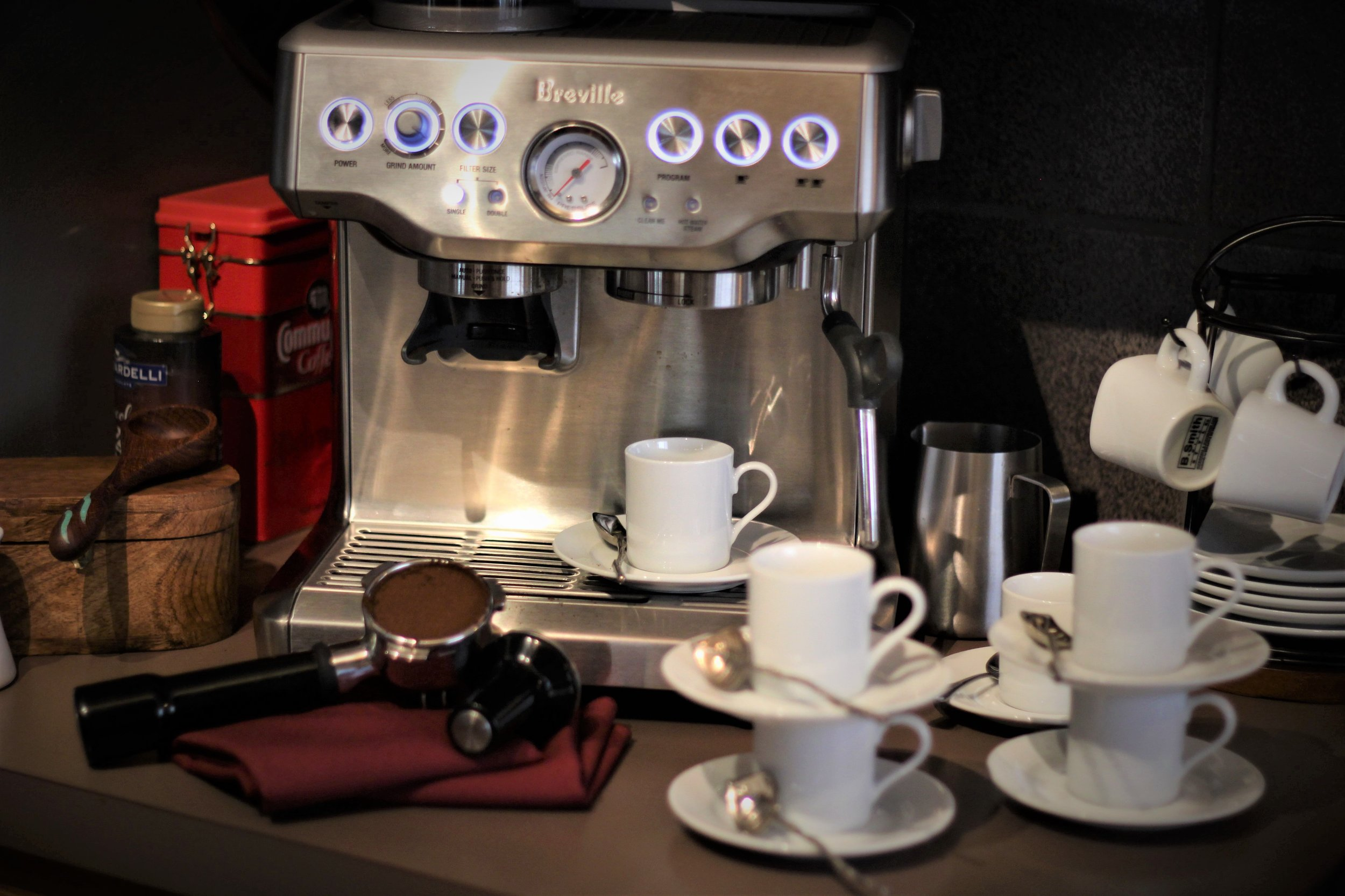 Espresso Machine with Cups