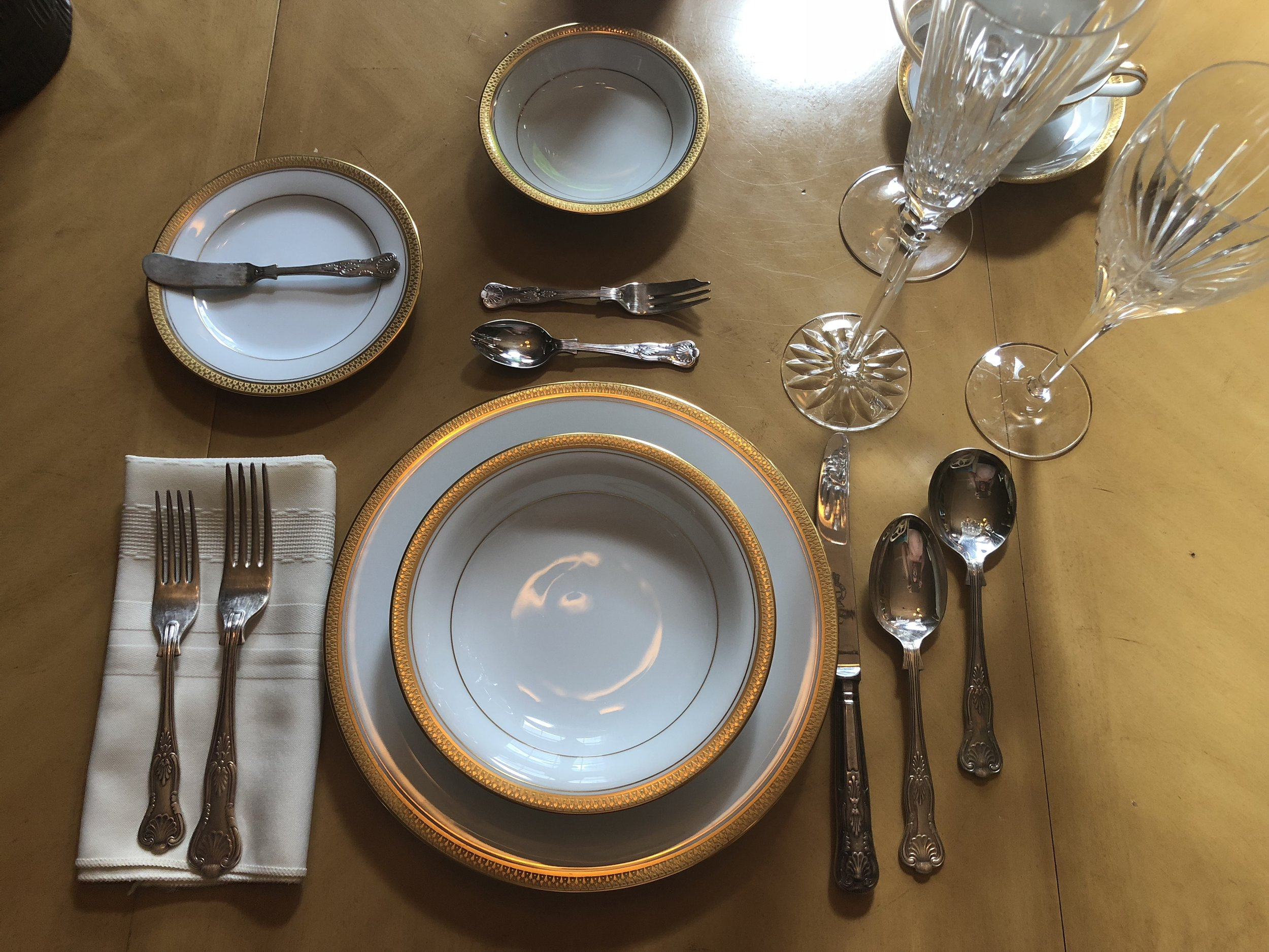 Gold Rimmed China