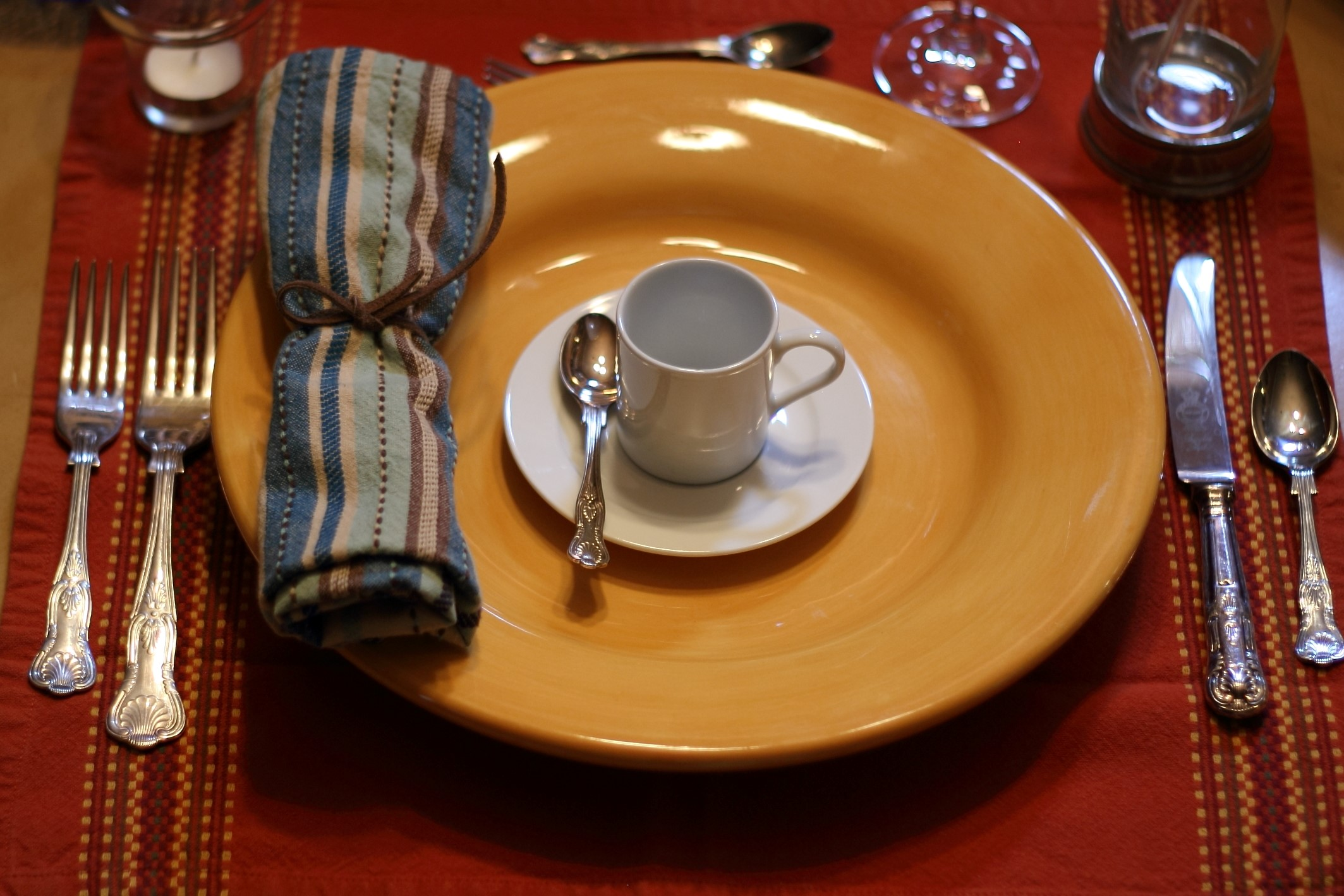 An  Intimate Dinner for Two  place setting.