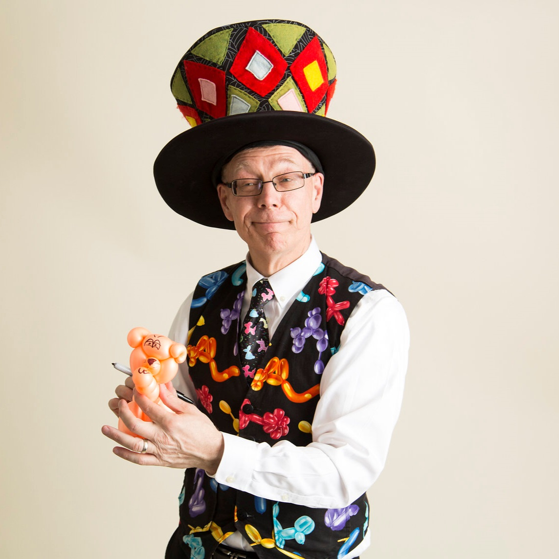Pat Roth,Balloon Guy - Free Family Fun Zone Entertainment @ Carlyle Public Library 1-4 PMPat Roth has been clowning around Central Canada and the United States for over 20 years, performing at birthday parties, cultural events and family gatherings. He specializes in professional balloon sculpting, face painting and family entertainment.Pat has a B.A. in Arts Education, is a graduate of Goldstone and Johnson's International School of Mime and holds a Bachelor Degree in Religious Studies. He also studied under the famous French mime, Marcel Marceau.