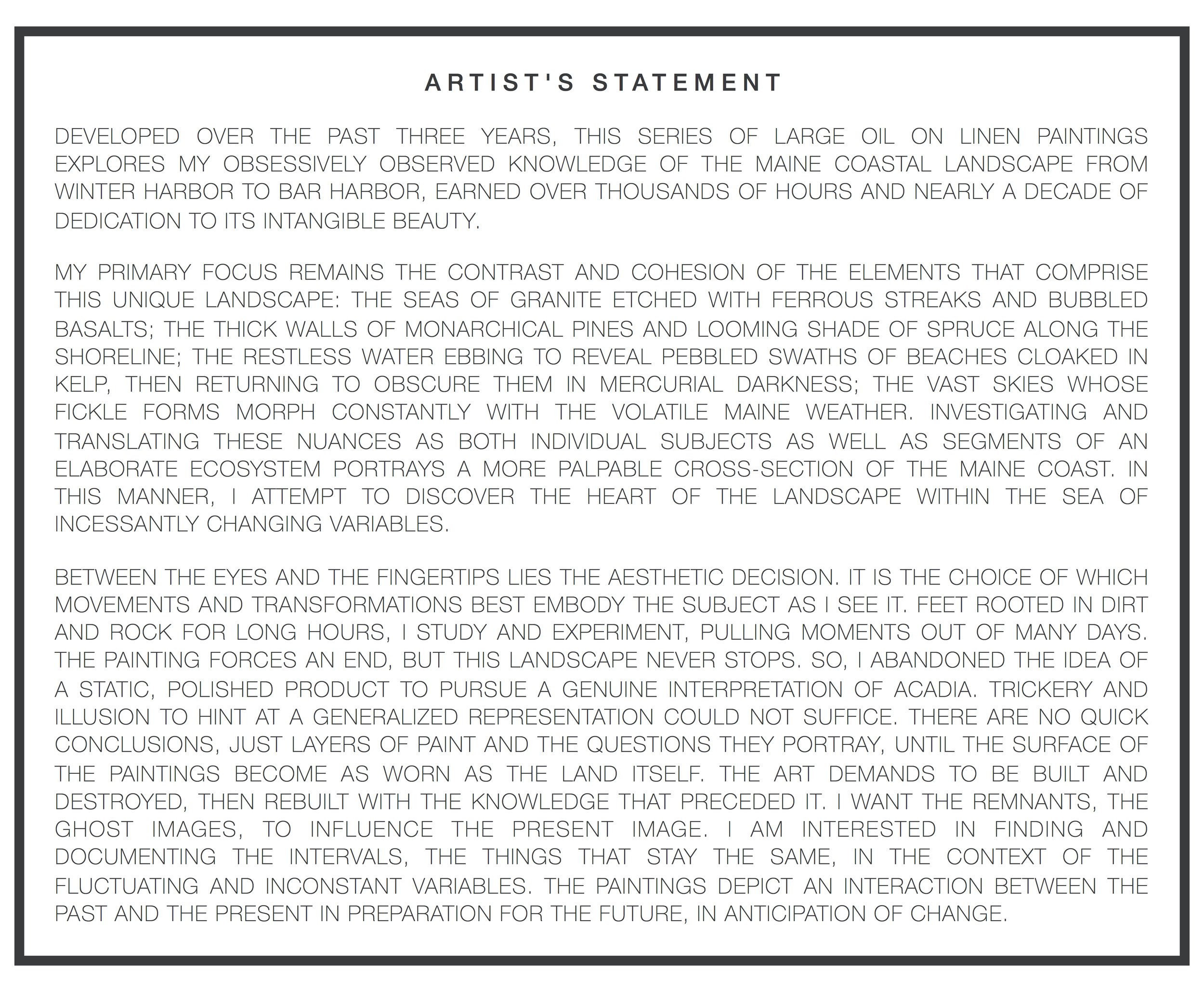 THE ACADIA SERIES ARTISTS STATEMENT FOR NEW WEBSITE.jpg