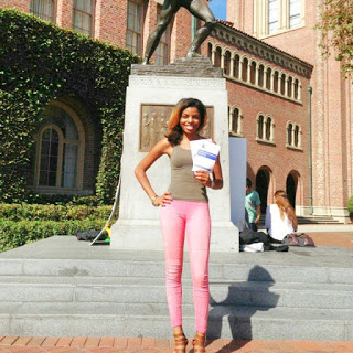 Photo of me at USC, not with parking tickets, but with a voting application