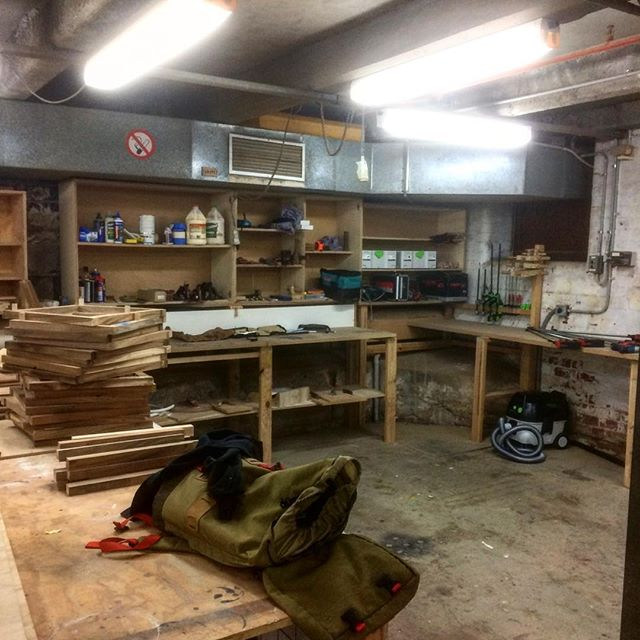 Today was the first day of the new workshop. Super excited to be making again. #furnituredesign #furnituremaking