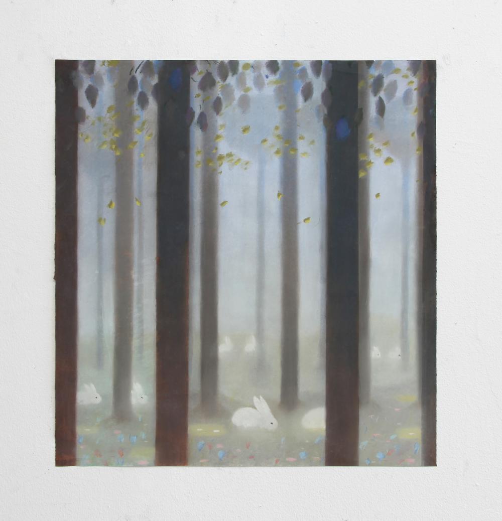 "Soft Grove (Study)  | Pastel on paper | 18 x 17"" | 2017"