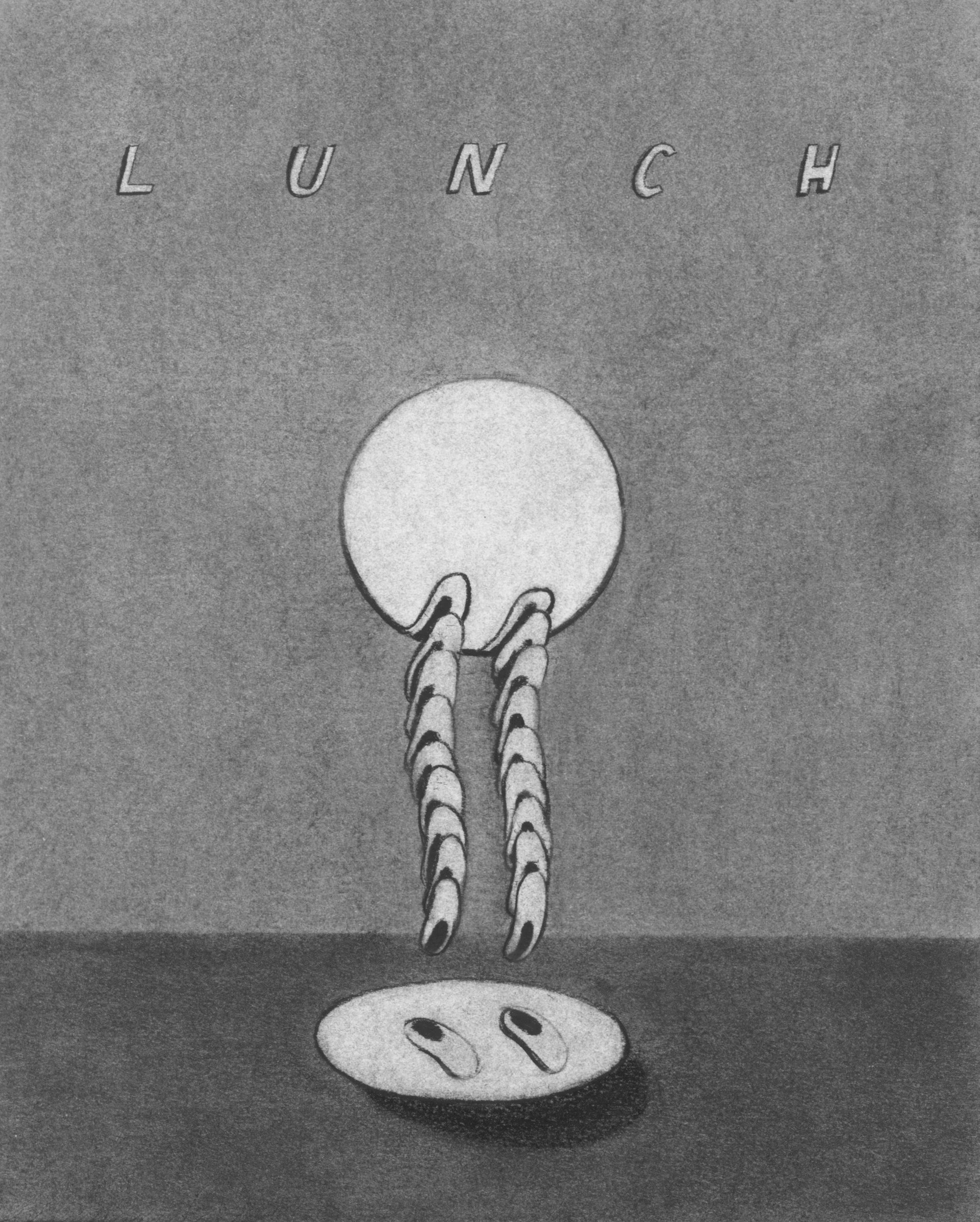 Lunch  | Charcoal on paper | 9 x 12 | 2014