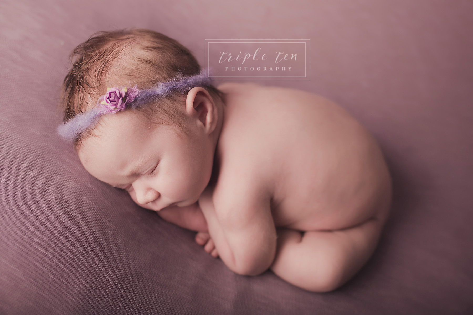 newborn taco pose red deer studio photographer.jpg