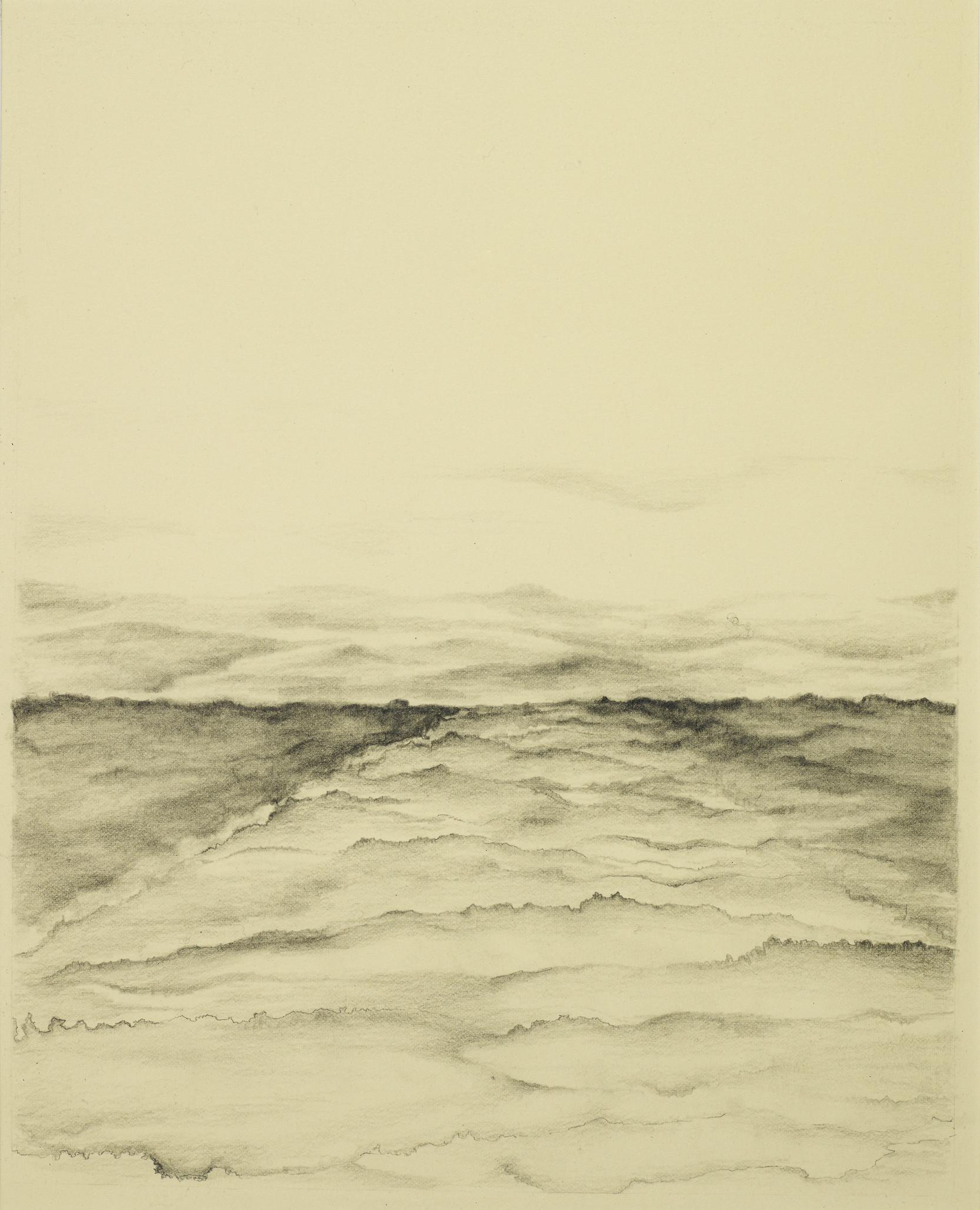 "Beyond the Horizon, 12""x16"", Pencil Drawing"