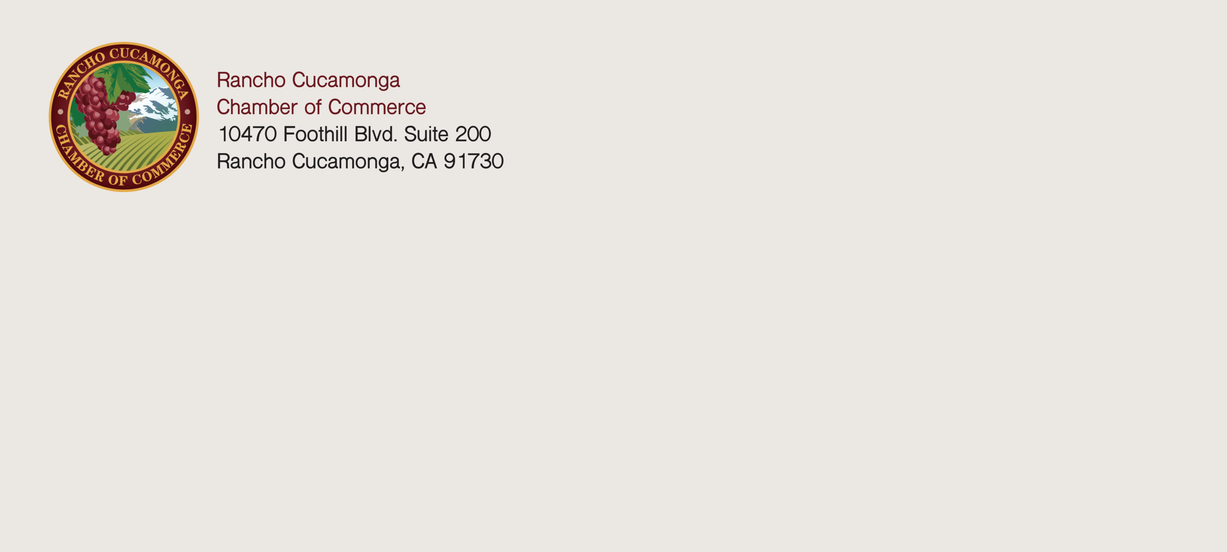 Rancho Cucamonga Chamber of Commerce Envelope