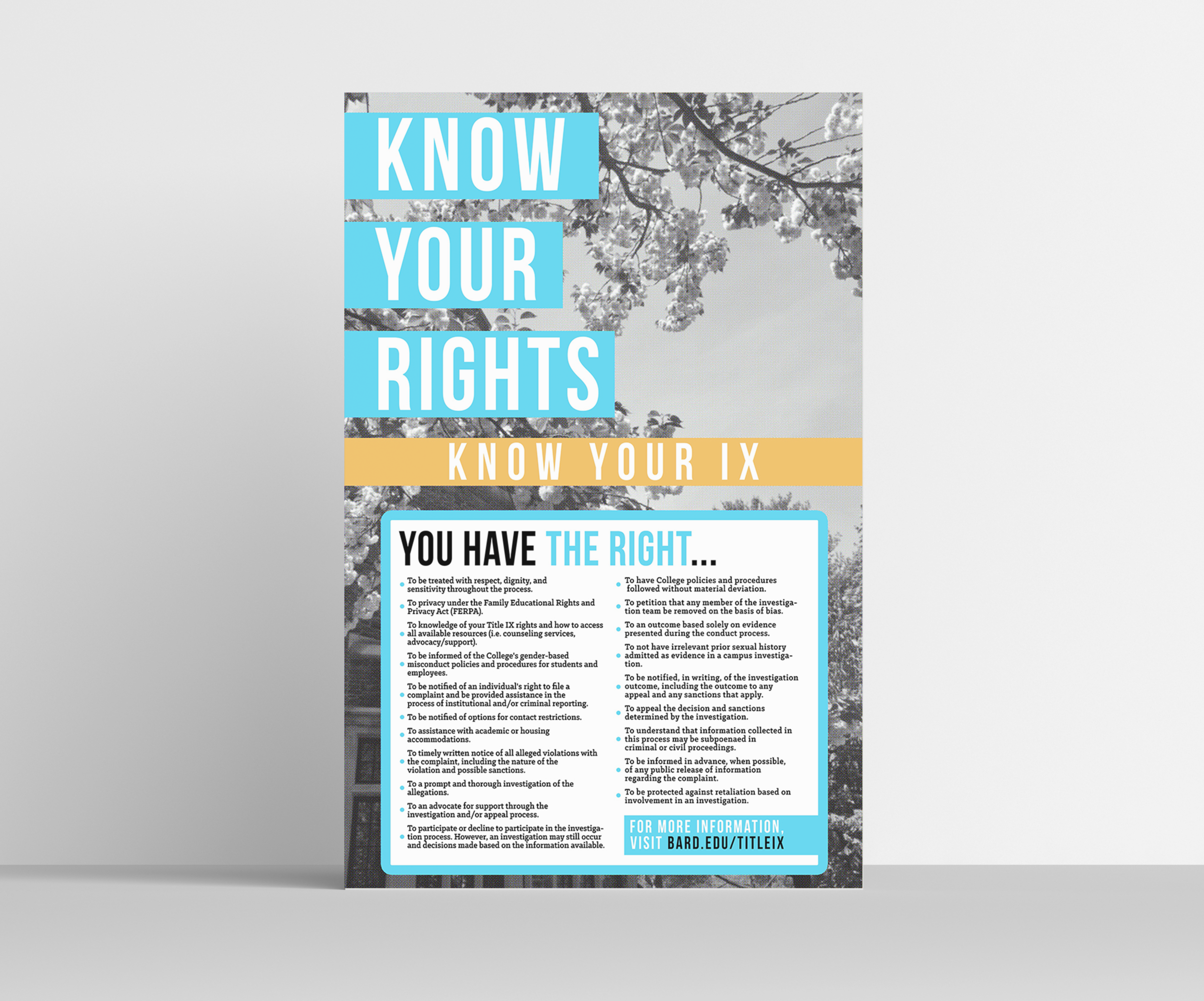Know Your Rights Informational Poster