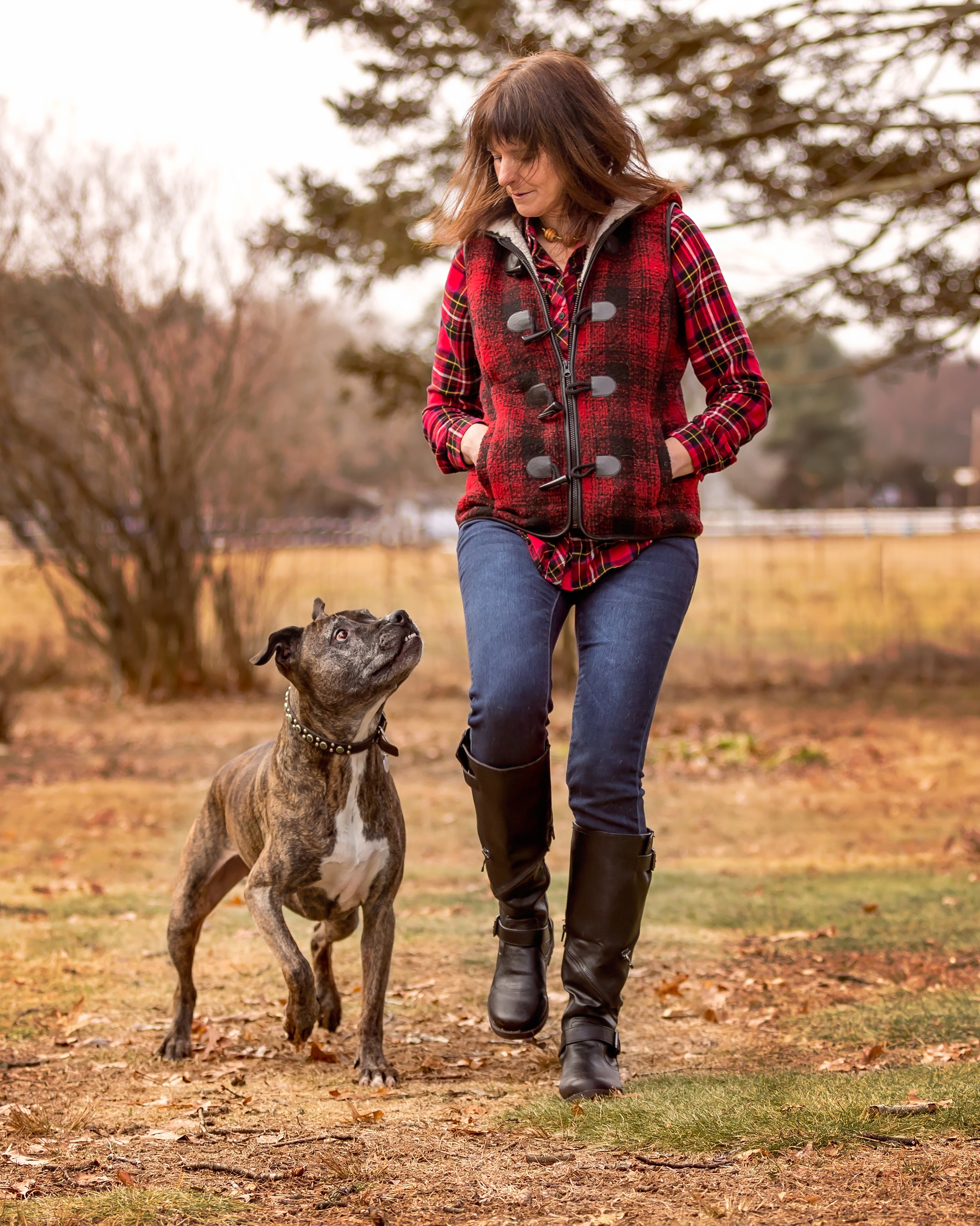Jill and her dog Diego