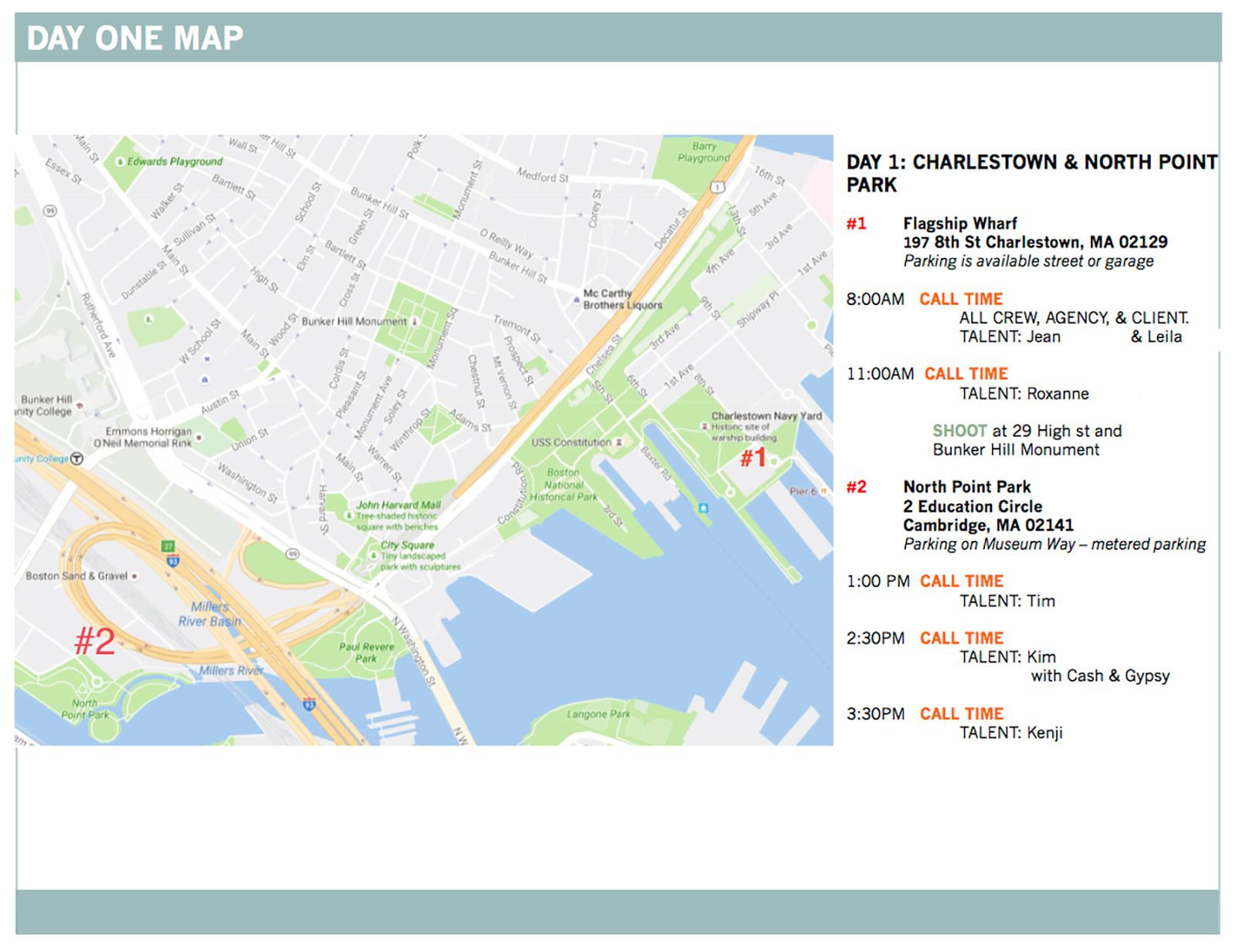 Boston Map for Visual Production