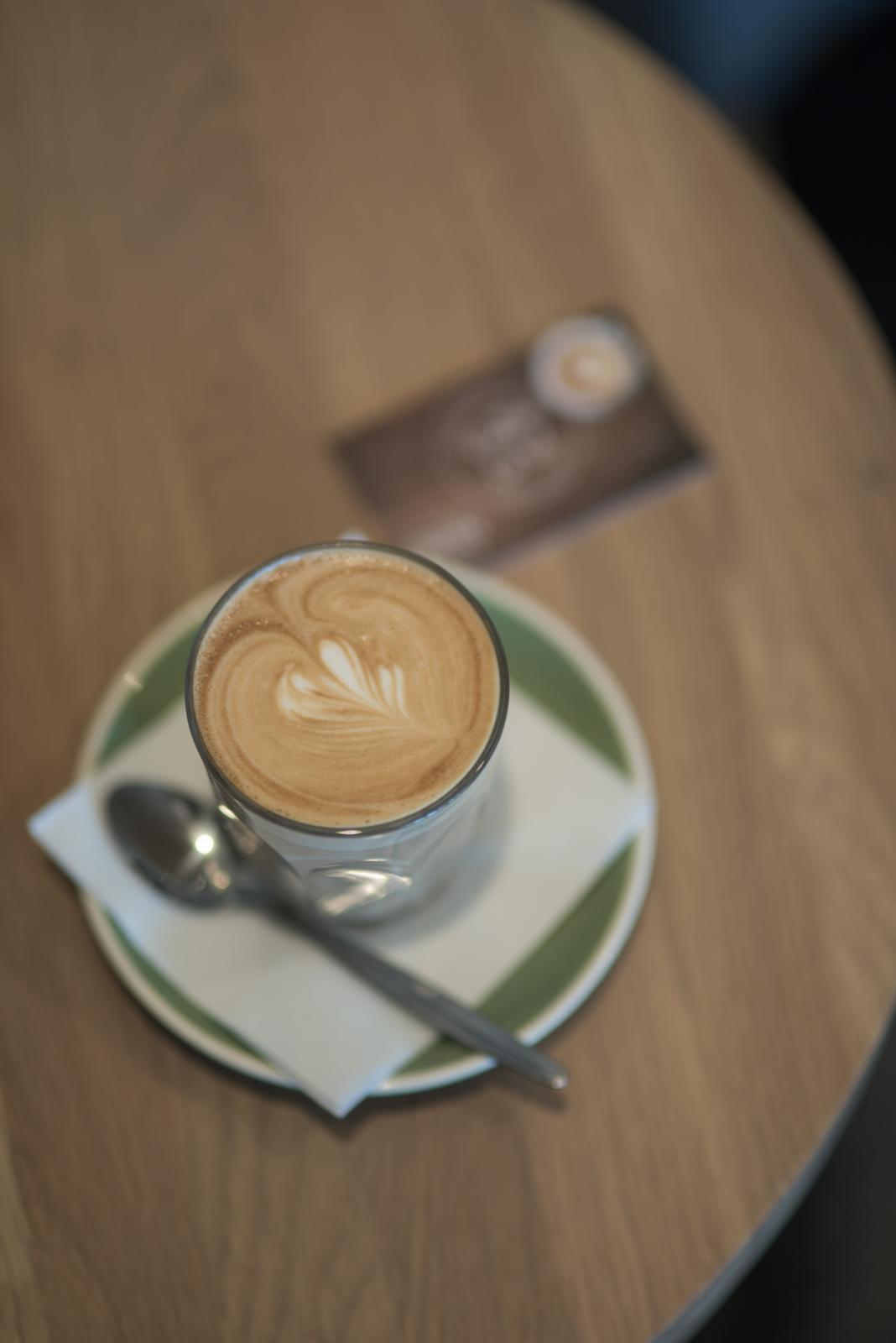 Latte made by one of our talented baristas.