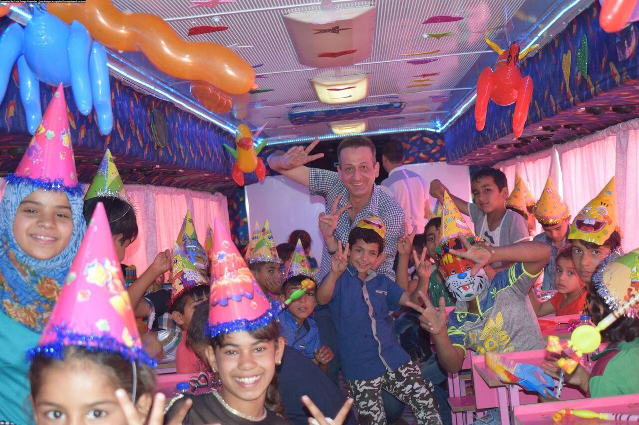 Inside the new Hope Bus.