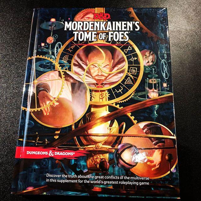 Happy release day #mordenkainenstomeoffoes 📜 . . . #dungeonsanddragons #gameshop #boardgamegeek #wizardsofthecoast