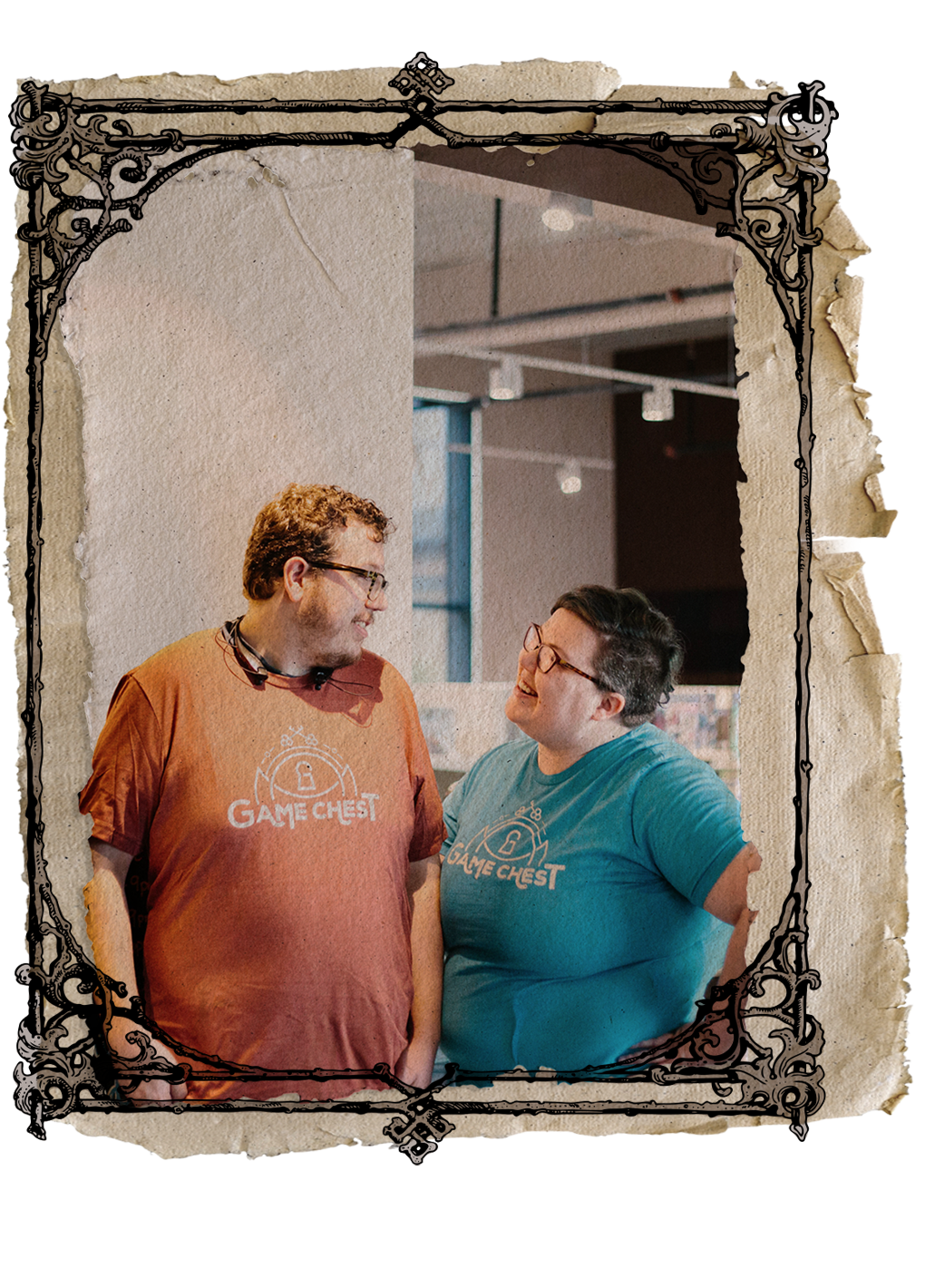 our story - We're Ben & Amanda, owners of Game Chest. We saw a desire and need for a community around friends, family, professional nerds and n00bs to hang out, converse and have fun with table top games of all kinds. We couldn't be more proud of the community we've built and can't wait to meet you.Follow our story
