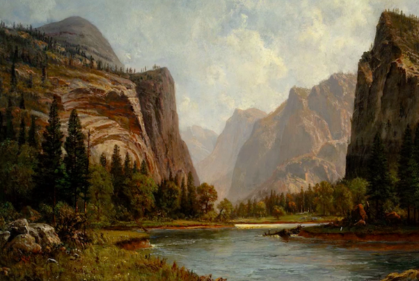And the best first place to look is the Hudson River School of painting.  I love to trace these images, and have my students trace these images, identifying each separate layer (there are often more than 10!)