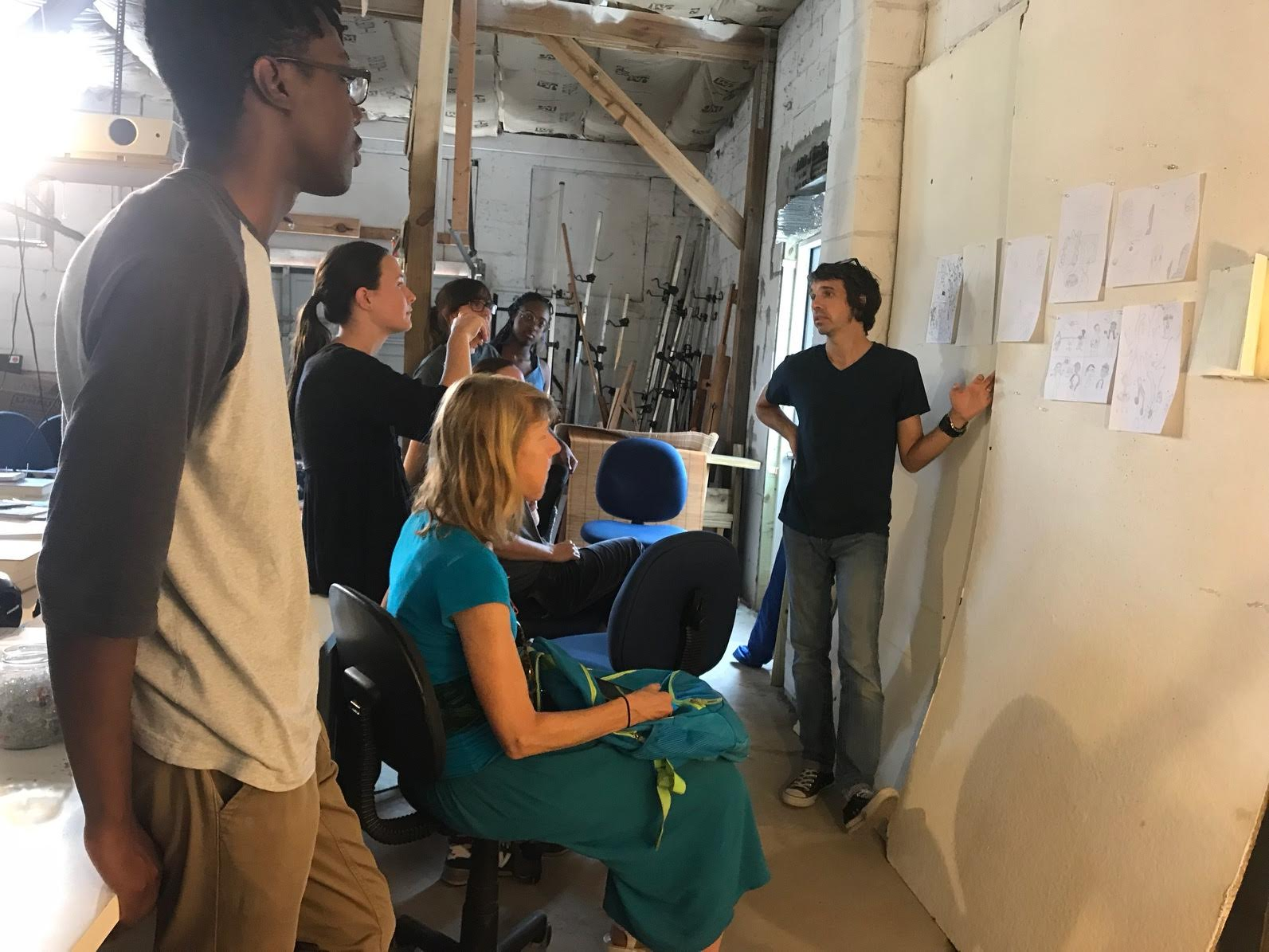 Scene from our first day in our new space!
