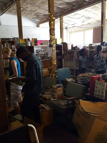 And Friday was library sorting day, because our library was still in boxes from the move.