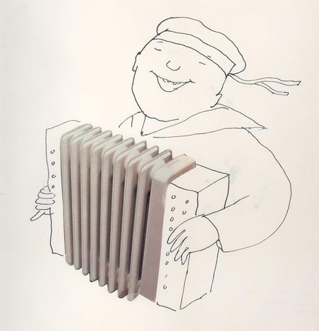 Radiator as accordion.