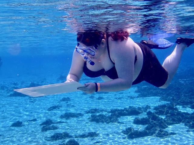 Underwater drawing
