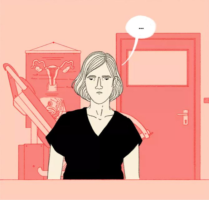 Crop of a panel in 'Take a Hint', by Julia Bernhard.