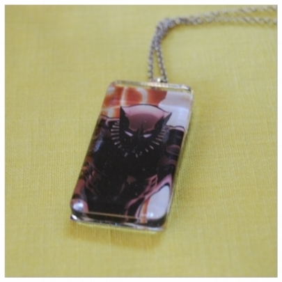 Geeky Bling - Our most popular products. Recycled comic books, vintage post cards, and more paired with charms, chain, or cords to celebrate your favorite fandoms.Earrings, keyrings, hair bling and more are also available in geektastic glory!