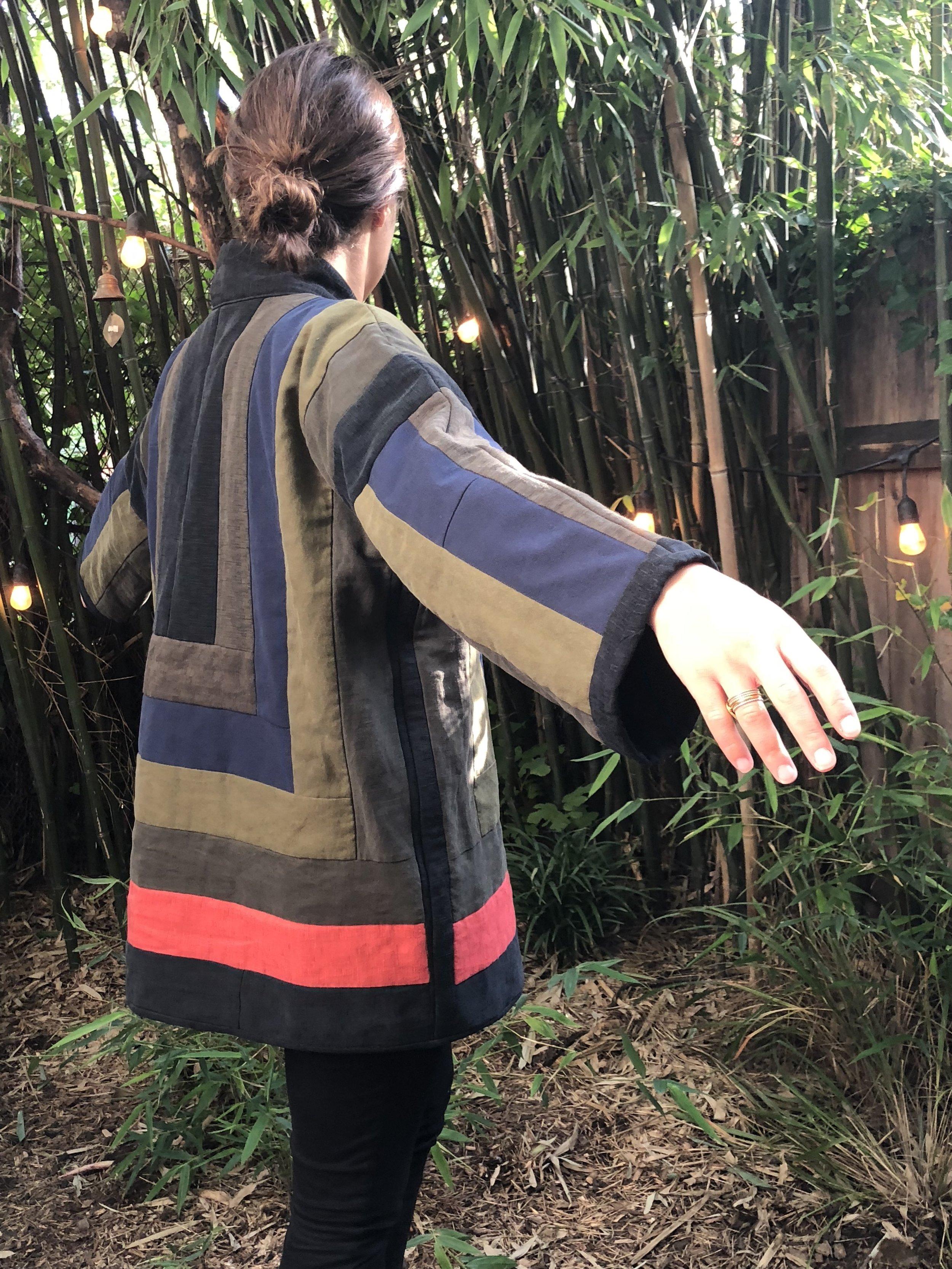 Quilted Kimono Coat