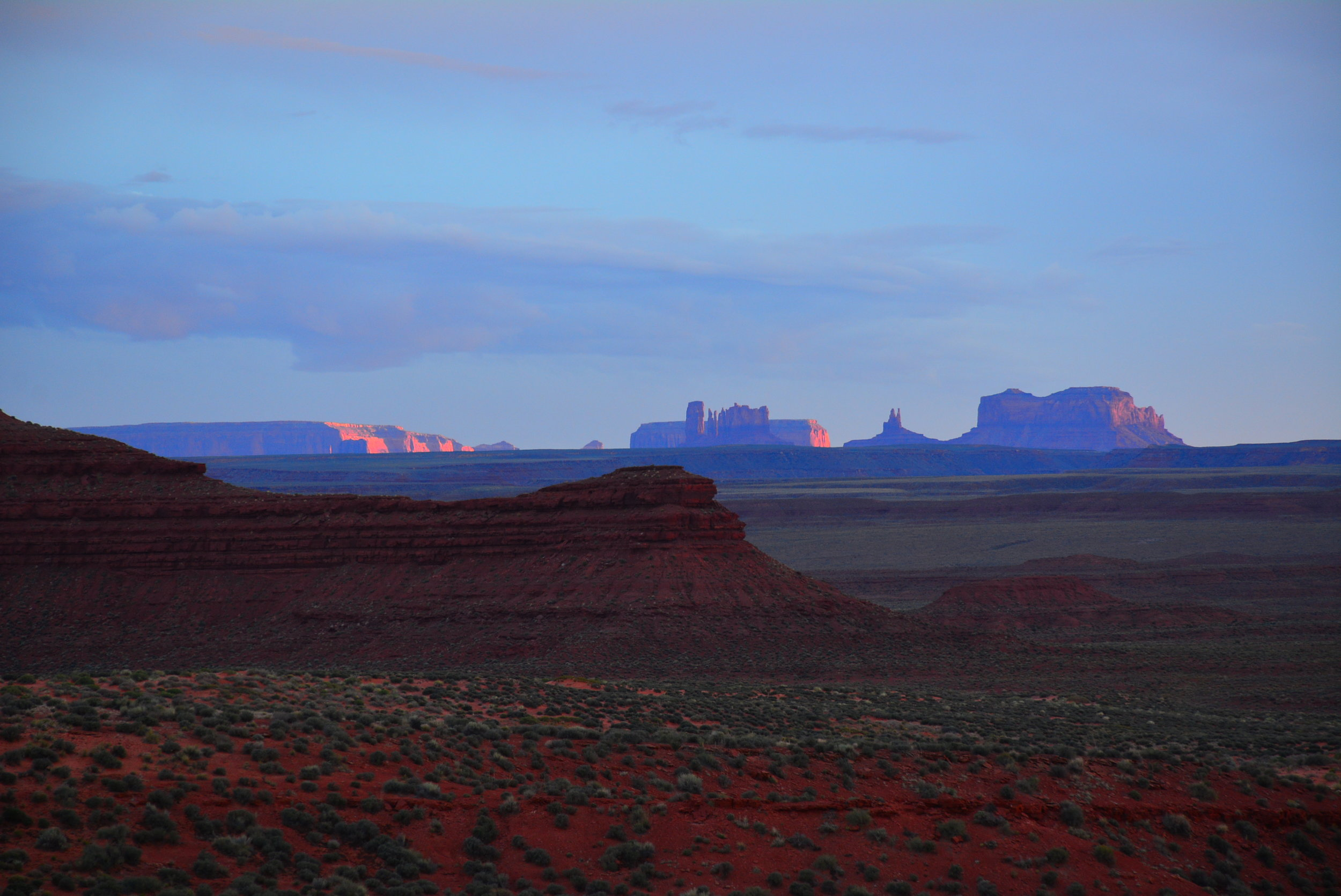 Monument Valley off in the distance